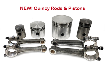 Quincy Rods & Pistons Parts List - Quincy 325, 350, 5120 & Others